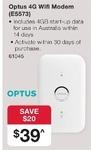 Optus E5573 Wi-Fi Modem ($29.50 not $39) at Australia Post