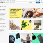 20% off 147 Various Stores @ eBay Spring Sale