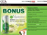 FREE 250ml 'Appletiser' slim-line can with any purchase at 7-Eleven