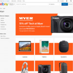 15% off Selected Categories @ Myer eBay