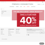 French Connection Further 40% off Already Reduced Prices Today Only (on-Line Only)