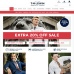 T.M Lewin Extra 20% off Sale Shirts from $26.80 ($10 Shipping, Free Over $120)