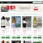 Get Wines Direct - 25% off Site-Wide