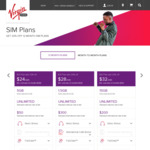 Virgin Mobile 20% off 12 Month SIM Only Plans