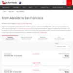 Adelaide to San Francisco $931 Return Economy via Qantas