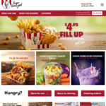 Double Combo $12.95 via KFC App