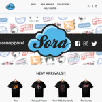 Sora Apparel Tees $30 down to $25 on Selected Designs - Ships Worldwide - SoraApparel.com.au