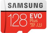Samsung EVO Plus MicroSD Memory Card 128GB 100MB/s USD $29.48 or AUD $41.53 (GST Included) from Joybuy