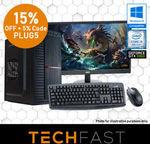 """[eBay Plus] Gaming Computer Bundle (Intel i5-8400, 120GB/1TB, 8GB DDR4, GTX 1060 6GB, 24"""") $789 Delivered @ TechFast AU eBay"""