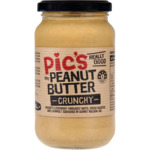 ½ Price Pic's Really Good Peanut Butter Varieties 380g $3.75 @ Woolworths