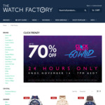 [Click Frenzy] up to 70% off Selected Watches from Tommy Hilfiger, BOSS, Casio G-SHOCK, Coach, Maserati @ The Watch Factory