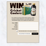 Win 1 of 99 Cricket Cooler Eskies Worth $99 from Bickford's (Buy a Bickford's 550ml Iced Coffee Syrup)