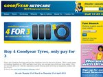 Buy 4 Goodyear Tyres, Pay for 3 at Goodyear Autocare