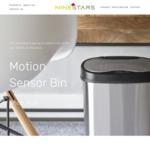 25% off Motion Sensor Bins + Free Standard Shipping on All Orders over $150 @ Nine Stars Australia