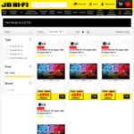 "20% off LG Super UHD TV's: 75"" SK8000 $2556, 65"" UK7550 $1596, 55"" UK7550 $1036, 49"" UK7550 $876 @ JB Hi-Fi"
