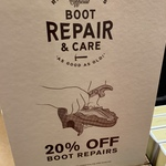 Birthday Offer: 50% off RM William Care Products and 20% RM William Boot Repairs @ R.M. Williams