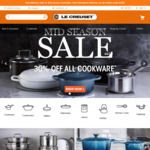 30% off Cookware Site Wide @ Le Creuset