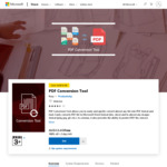 [Windows 10] Free (Was $8.99) PDF Conversion Tool - Quick and Efficient PDF Converter Application @ Microsoft Store