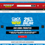 25% off Online (Excluding Special Orders) @ Supercheap Auto
