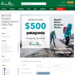 Win a $500 Patagonia Shopping Spree from Paddy Pallin