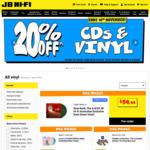20% off Vinyl @ JB Hi-Fi