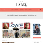 Win a Double in-Season Pass to The Movie Mrs Lowry & Son from Label Magazine
