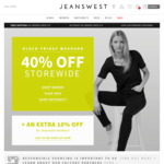 40% off Storewide @ Jeanswest