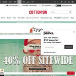 40% off Storewide @ Typo