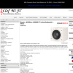 """Bowers & Wilkins ASW608 8"""" Sealed Active Subwoofer (White / Black) $599 Delivered @ Clef HiFi"""