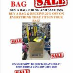 [QLD] Bag Sale - Buy a Paper Bag $0.50 & Get 20% off What Stock You Can Fit in The Bag @ City Mitre 10, Brisbane CBD