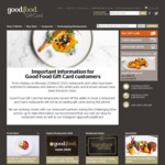 Bonus $10 with $100+ Gift Card Spend @ Good Food Gift Card