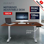 AVANTE Sit/Stand Motorised Height Adjustable Desk 150cm Walnut/Silver (Shipped) from Mytopia for $559