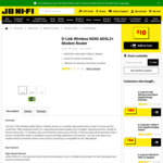 D-Link DSL-2750U Wireless N300 ADSL2+ Modem Router for $10 at JB Hi-Fi