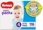Huggies Ultra Dry Nappy Pants Girls (4 & 6) Boys (4) Bulk Packs $34 or $28.90 S&S + Delivery ($0 with Prime/ $39) @ Amazon AU
