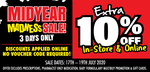 Extra 10% off Sitewide @ Chemist Warehouse & My Chemist