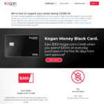 Earn $300 Kogan.com Credit When You Spend $3000 on Everyday Purchases in The First 90 Days from Card Approval