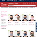 Element Mask - Reusable 3-Layer Cotton Adult Mask $5.50 (Free Pickup, $4.50 Parcelpoint, $5.50 Delivery) @ Peter's of Kensington