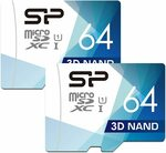 Silicon Power 64GB Dual Pack High Speed MicroSD Card with Adapter $17.99 + Delivery ($0 with Prime/ $39 Spend) @ SP Amazon AU