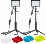 Neewer 2 Packs Dimmable 5600K USB LED Video Light Kit - $49.69 Delivered @ Peak Catch Amazon AU