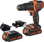 [Prime] Black+Decker BDCHD18KB-XE 18V Hammer Drill + 2 Batteries $104.99 Delivered @ Amazon Au