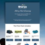 Win a Hiking Gear Pack Worth $1,062.90 from Sherpa