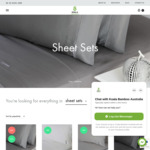 $40 Single Sheet Sets (Was $120) @ Koala Bamboo + Free Shipping over $100