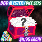 Mystery Acrylic Dice US$4.95 / A$6.37 + Postage (Free Postage with 8+ Sets) @ The Tabletop Game Shop