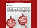 Fusion Family & Friends Christmas Offer! 40% off JAG & 30% off Diana Ferrari, Williams & Mathers