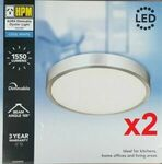 2x HPM AURA 18W LED Dimmable Ceiling Oyster Light 4000K $39 Delivered @ Coffeeelisa eBay