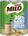 ½ Price Nestle Milo 30% Less Added Sugar or Plant Based Milo 395g $3.50 @ Woolworths
