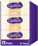 Quilton 3 Ply Aloe Vera 95 Facial Tissues 12pk $12 ($10.80 S&S) + Delivery ($0 Prime/ $39 Spend) @ Amazon AU
