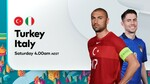 Turkey vs Italy, 12th June 2021, UEFA EURO 2020, Free to Watch @ Optus Sports