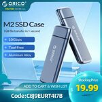 ORICO M.2 NVMe/SATA USB-C 10Gbps SSD Enclosure US$25.29 (~A$33.40) Delivered @ Orico Official Store AliExpress