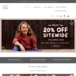 20% off Sitewide Including Sale Items + $10 Delivery ($0 with $80 Order) @ Little Noa (Girls Apparel)